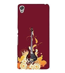 Music Guitar 3D Hard Polycarbonate Designer Back Case Cover for Sony Xperia XA :: Sony Xperia XA Dual