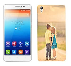 ECellStreet Exclusive Silicon Printed Soft Back Case Cover Back Cover For Lenovo S850 S 850- Couple