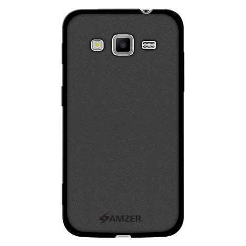 Amzer Amzer Pudding TPU Skin Case Back Cover for Samsung GALAXY Core Advance GT-I8580 - Skin - Retail Packaging - Black (Galaxy Core Advance compare prices)