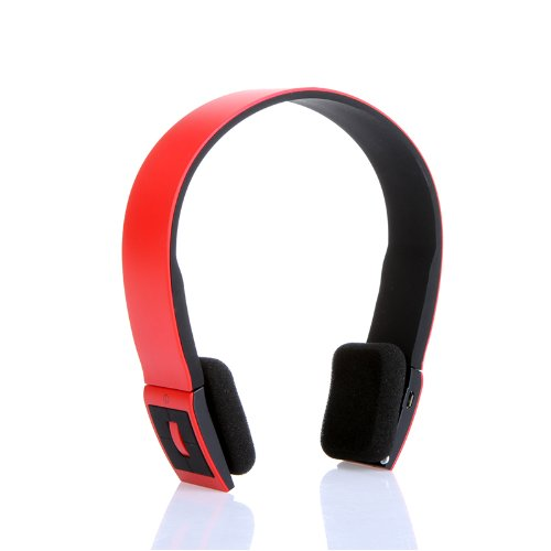 Bluetooth Stereo Headset With Microphone-In For Iphone 4/4S /Ipad 2 3 /Ps3 - Support Two Device At The Same Time (Red)
