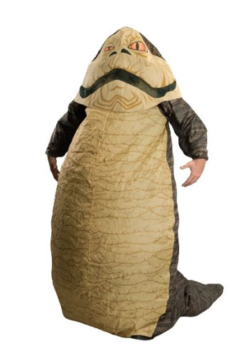 Star Wars Jabba The Hut Deluxe Inflatable Adult Costume, Brown, One Size (Fits Up To 44 Jacket Size)