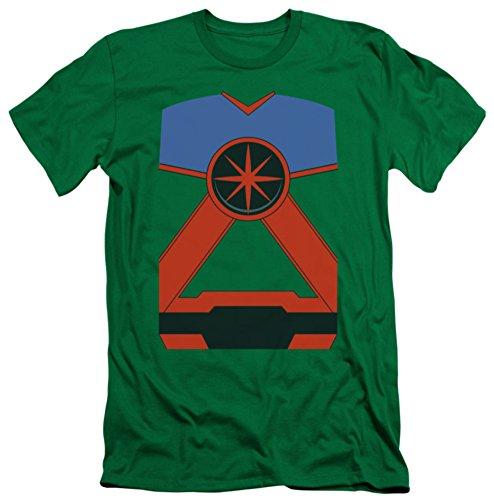 Justice League - Martian Manhunter Costume Tee (slim fit) T-Shirt Size XXL (Martian Manhunter Costume)