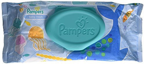 Pampers Baby Fresh Wipes Refreshing Scent, 64 ct (Pack of 4) - 1