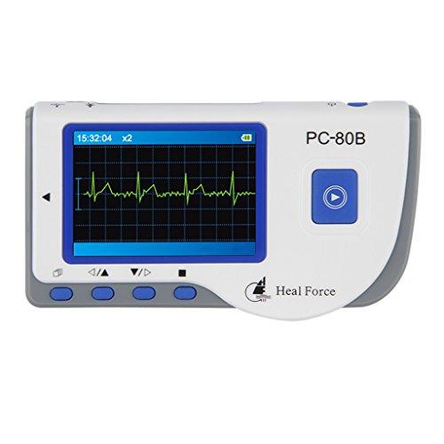 Heal-Force-Mini-Hand-EKG-Gert-ECG-Monitor-Patienten-Monitor-EKG-Kabel-50-ECG-Elektroden-mit-Software