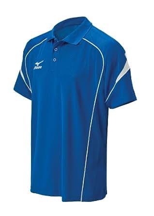 Mizuno Men's Piped Team Polo Shirt (Royal, X-Small)