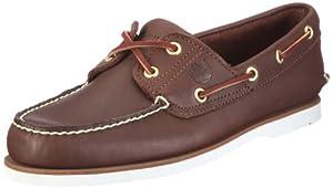 Timberland Men's Classic 2 Eye Boat Shoe 3 Dark Brown Lace Up 74035 10.5 UK