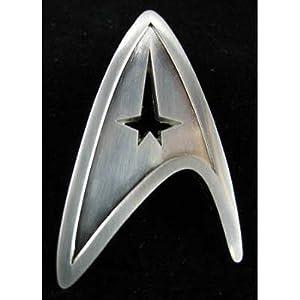 (1x2) Star Trek Starfleet Division Badge - Command