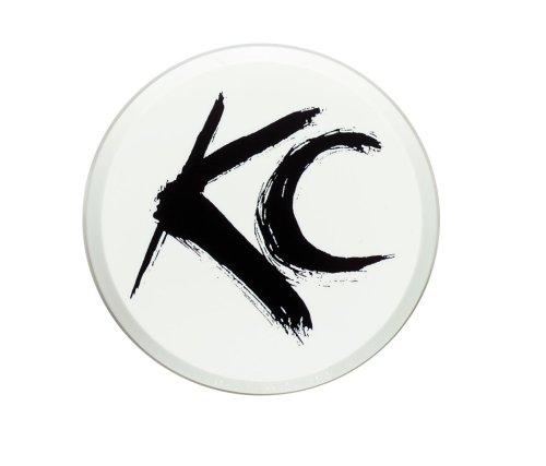 "Kc Hilites 5106 6"" Round White Plastic Light Cover W/ Black Kc Logo - Single Cover"