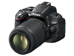 Nikon D5100 Appareil photo numérique Reflex 16.2 Kit + Objectif VR 18-55 mm + Objectif VR 55-200 mm Noir