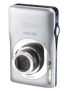 Canon IXUS 105 Digital Camera - Silver (12.1 MP, 4x Optical Zoom) 2.7 Inch PureColor LCD