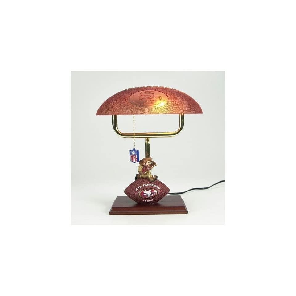 San Francisco 49ers NFL Mascot Desk Lamp w/ Football Shade (14)