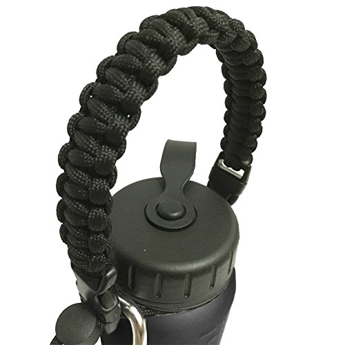 EliteMax 10-Inch Detachable Paracord Bottle Carrier, Black (Hot Dog Trap Team compare prices)