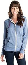 Roxy New Signature - Sweat-shirt à capuche - À capuche - Manches longues - Femme - Bleu (Light Denim) - Small (Taille fabricant: Small)