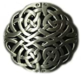 CELTIC ROUND BELT BUCKLE + display stand