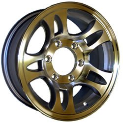 15&#8243; Aluminum Split-spoke Trailer Wheel (6 Hole)