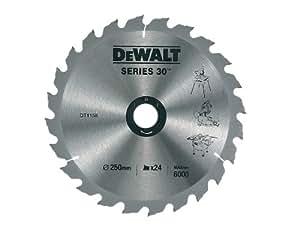 DeWalt DT1158QZ 250 x 30mm x 24 dents Lame de scie circulaire Construction (Import Grande Bretagne)