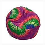 Jumbo Cotton Twill Bean Bags with Liner in Tie Die