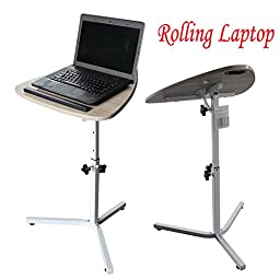 Generic QY-US4-16March21-2 *8**3085** Laptop Desk Height Adjustable Rolling Angle H Angle Height ble Rol Hospital Table Stand e Stand Over Sofa Bed pital Table Stand