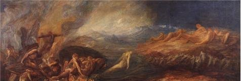 Oil Painting 'Assistants And George Frederic Watts - Chaos,1875', 20 x 59 inch / 51 x 150 cm , on High Definition HD canvas prints is for Gifts And Bath Room, Kitchen And Laundry Room Decoration, fast (Business Development Assistant compare prices)