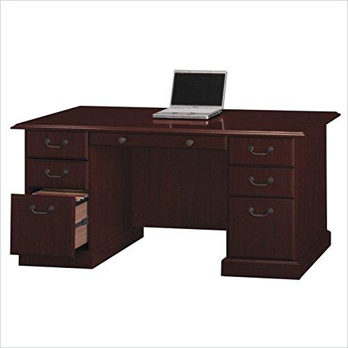 Bush Bennington Collection Managers Desk - Harvest Cherry