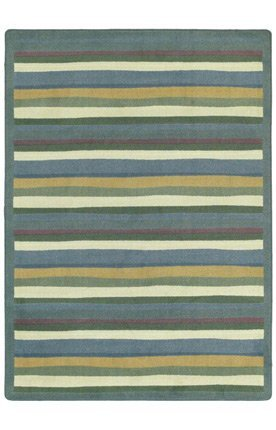 "Joy Carpets Kid Essentials Active Play & Juvenile Oval Yipes Stripes Rug, Soft, 3'10"" x 5'4"""
