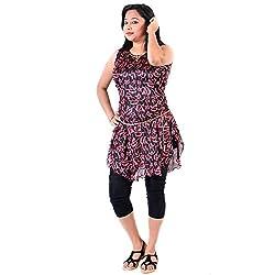 Glimmerra Women's Top (Fancy Top034Rb_Red Black_ Free Size)_36)