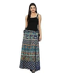 FEMEZONE Women's Cotton Long Wrap Skirt
