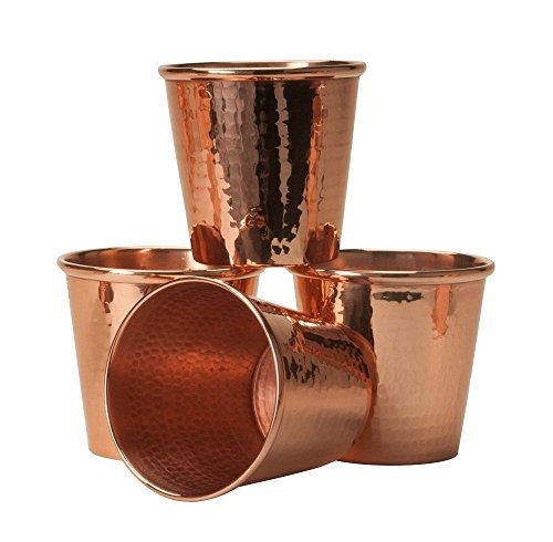 Sertodo Apa Cups, set of 4, Hammered Copper, 18 fluid ounces
