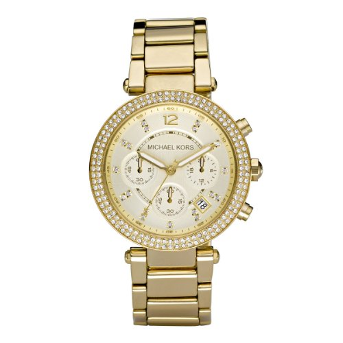 Michael Kors Women's Quartz Watch Parker Chronograph MK5354 with Metal Strap