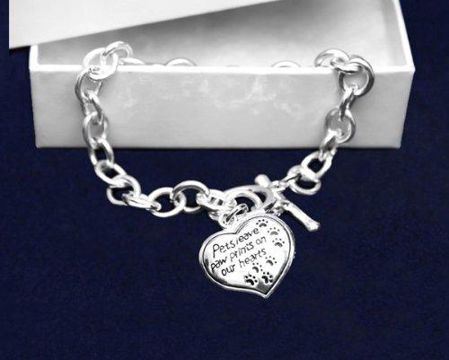 Pets Leave Paw Prints Bracelet (18 Bracelets)