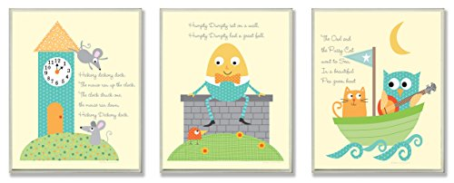 The Kids Room by Stupell Classic Nursery Rhyme 3-Pc. Rectangle Wall Plaque Set