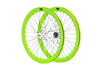 Pure Fix Cycles Glow in the Dark 50mm Wheelset, Green Glow