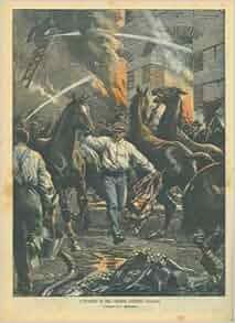 Incendio di una celebre scuderia italiana (Calderoni a Cologna