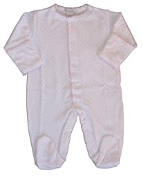 Kissy Kissy Baby Dots Footie-White with Pink Dots-6-9 Months