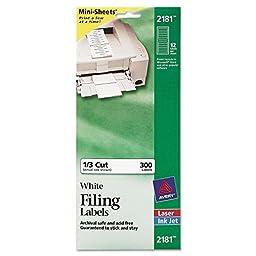 AVE2181 - Avery Filing Mini-Sheet Label