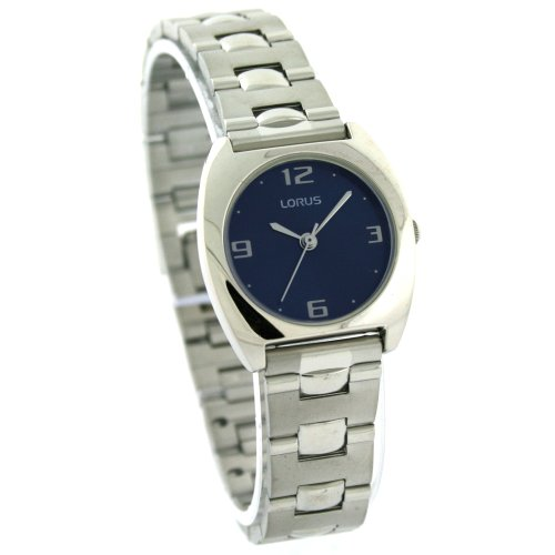 Lorus Ladies Watch Link Bracelet Blue Dial