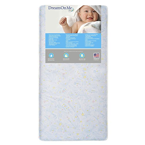 Dream On Me Crib and Toddler, 180 Coil Mattress, Star Bright (Star Coil compare prices)
