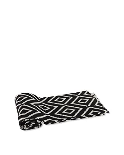 A&B Home Cotton Polo Throw, Black