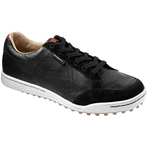 Ashworth Men's Cardiff - Black/White Golf Shoes