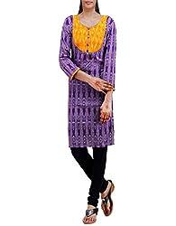 Unnati Silks Women Pracheen kala violet Pochampally cotton kurti