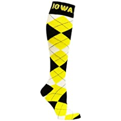 Buy NCAA Iowa Hawkeyes Argyle Socks by Donegal Bay