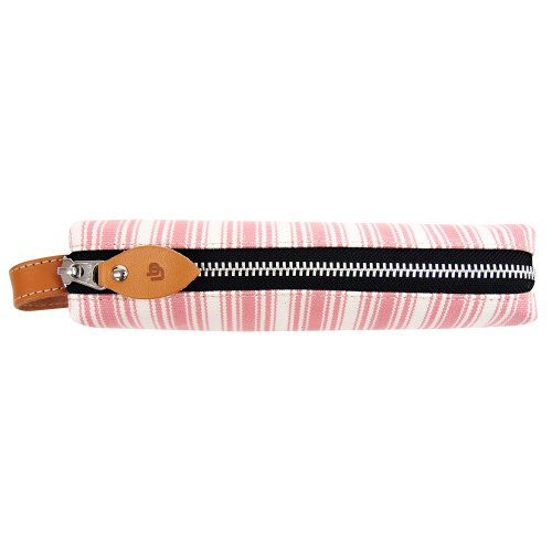 united-bees-baton-pen-case-japanese-made-canvas-striped-plum-ubs-pl-105