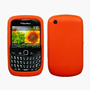 Orange Silicone Case / Skin / Cover for RIM BlackBerry Curve 8520 / 8530