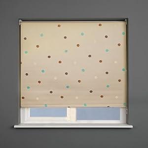 Sunlover store enrouleur occultant design pois sable 60 x 170 cm - Store enrouleur design ...