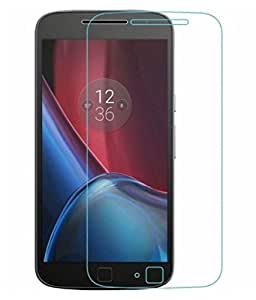 Motorola Moto G4 Plus Compatible Tempered Glass Screen Protector (Antishock, Curved Edged) (Pack of 2, Only Front Transparent) (Combo Offer, get a VJOY 5200 mAh Power-Bank GREEN (1 Year Replacement Guarantee, Lithium Polymer Battery, Long Battery-Life) worth Rupee 1599/- absolutely free with Screen Protector)