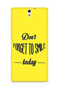 Amez Dont forget to Smile Today Back Cover For Sony Xperia C5