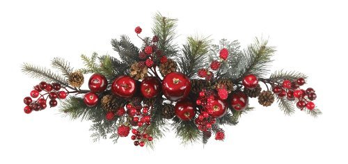 Nearly Natural 4678 Apple Berry Swag, 30-Inch, Red/Green by Nearly Natural