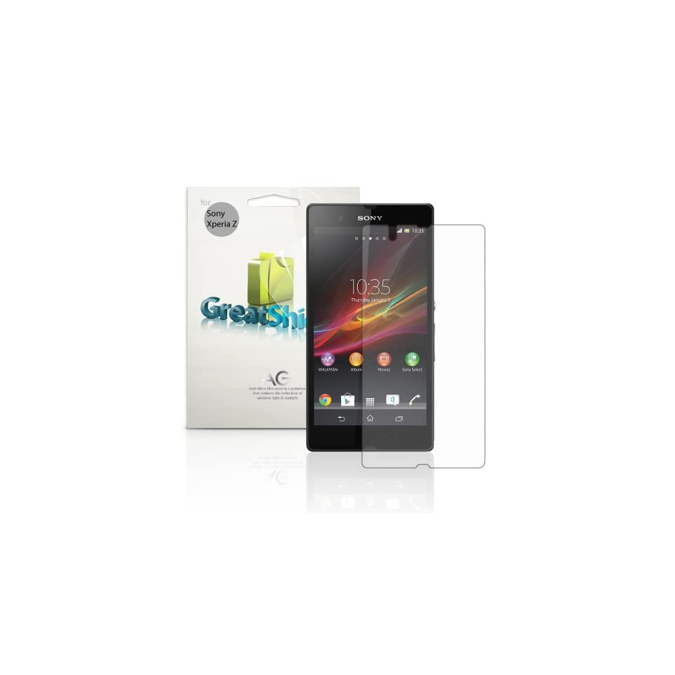 GreatShield Ultra Anti Glare (Matte) Clear Screen Protector Film for Sony Xperia Z / C6606PL (3 Pack)