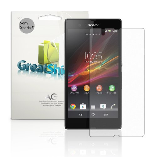 Greatshield Ultra Anti-Glare (Matte) Clear Screen Protector Film For Sony Xperia Z / C6606Pl - Lifetime Warranty (3 Pack)
