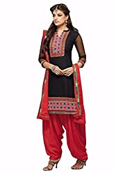 KANHA TRADING Womens Cotton Unstitched Salwar Suit Dress Material (KANHA TRADING 2666_ Multicolor_Freesize)